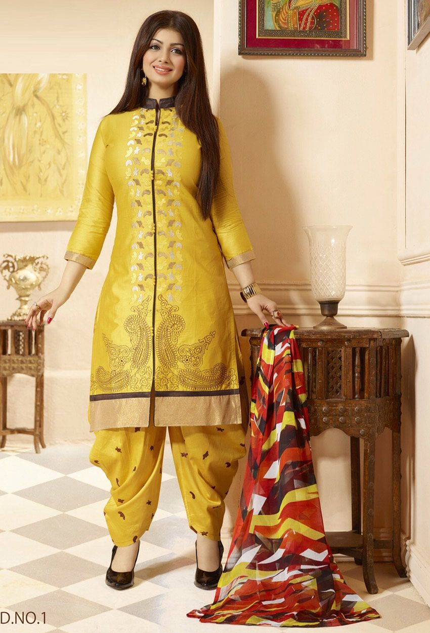 c97f5f2fe0 #Ayesha #Takia In #Yellow #Cotton #Patiala #Suit #nikvik #usa #australia  #pakistanisuit #wedding #canada #wedding