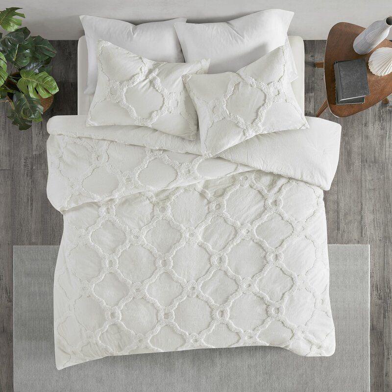 Mize Cotton Chenille Comforter Set Reviews Joss Main Geometric Duvet Cover Geometric Duvet Duvet Cover Sets