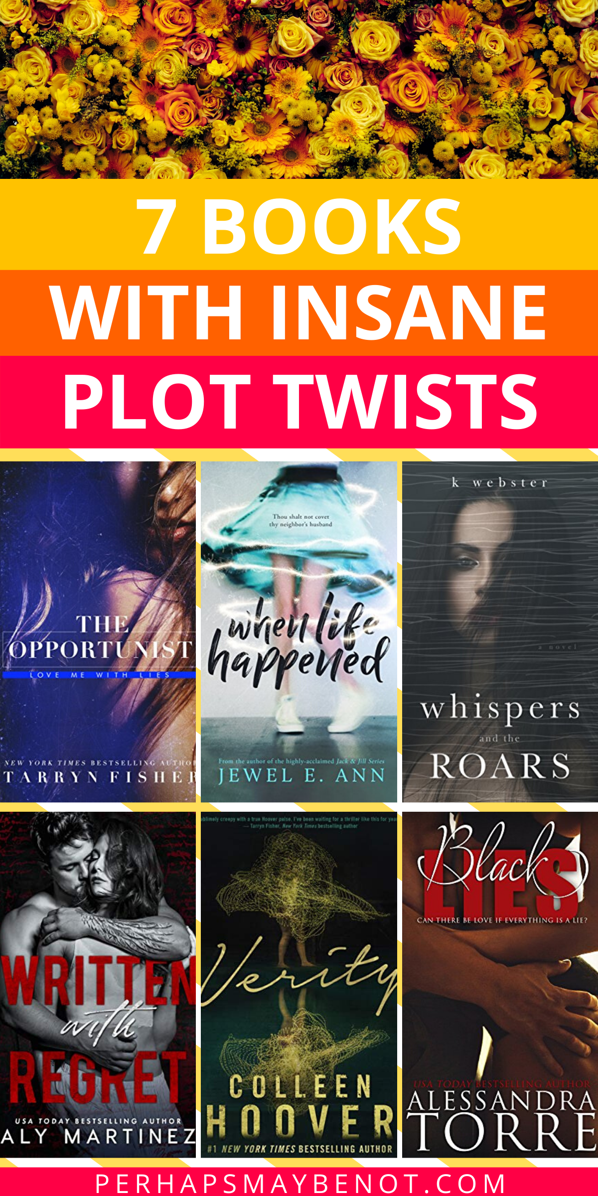 If you want to be surprised, these 7 books are perfect for you. They have some of the best plot twists in books that you'll never see coming. #booksworthreading #bestbooks #bestplottwists #plottwists #booklist #bookstoread