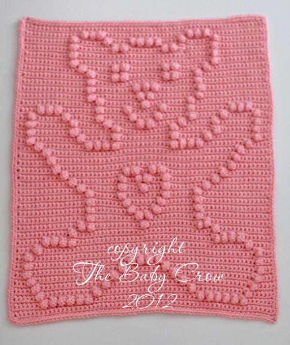 Crochet Pattern - Crochet Baby Security Blanket - Baby Snuggle ...