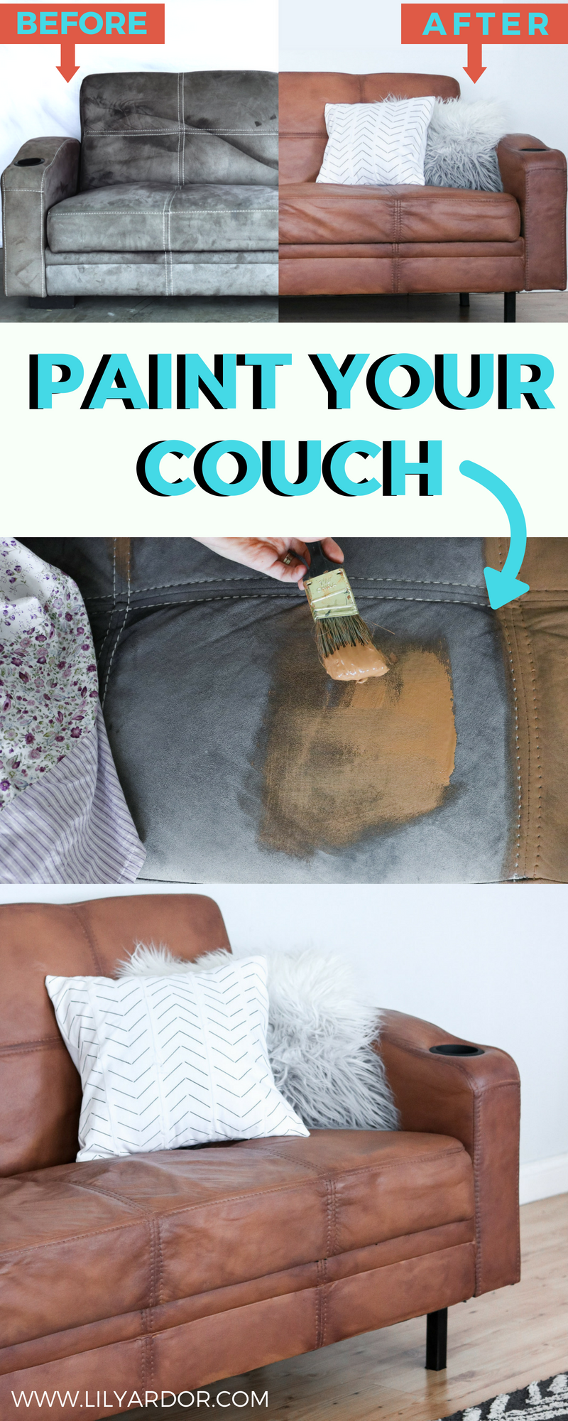 How To Paint Your Microfiber Couch To Look Like Real Leather