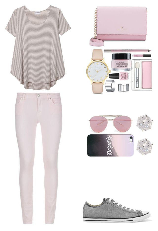 """""""Lilac"""" by yellowfang11 ❤ liked on Polyvore featuring Olive + Oak, Converse, 7 For All Mankind, Boohoo, Casetify, Kate Spade, River Island, Bling Jewelry, OPI and Clinique"""