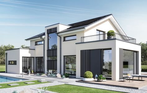 Lichtdurchflutetes und modernes traumhaus das concept m 154 genügt höchsten architektonischen ansprüchen und erweist