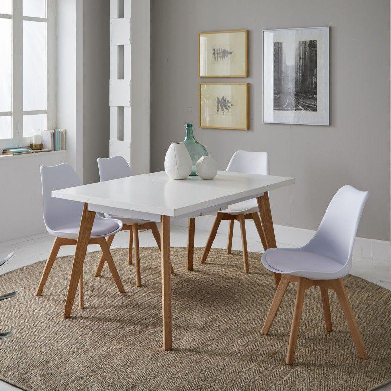 Conjunto de comedor modelo Nordic compuesto por 1 mesa ...