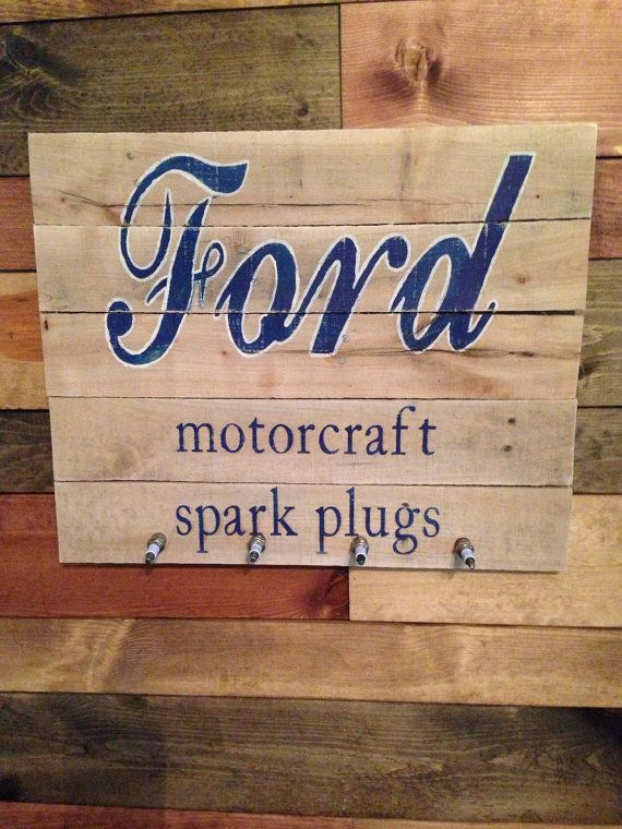 Hand Painted Man Cave Signs : Ford pallet sign for the man cave made by