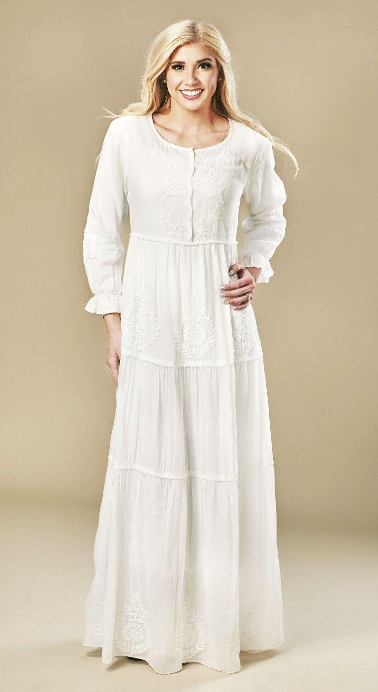 Madrid 3056 Lds Temple Dresses White Elegance Lds Temple Dress Temple Dress Dresses [ 1406 x 768 Pixel ]