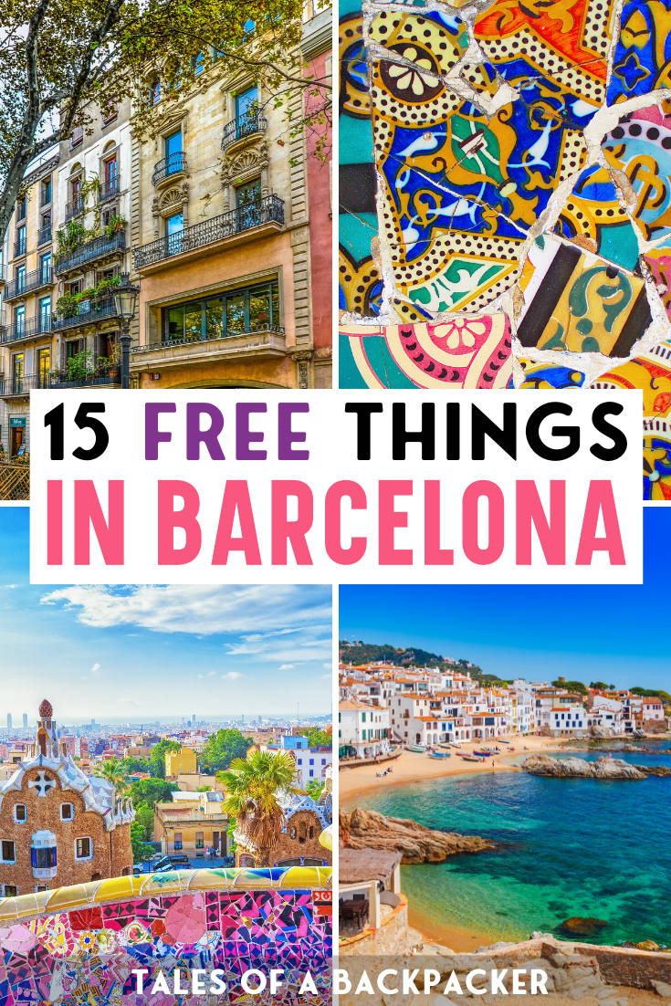 15 Totally Free Things to do in Barcelona. it can be tough to travel on a budget but thankfully Barcelona has tons of free sights and activities! Here are 15 awesome but totally free things to do in Barcelona to rock your stay | What do in Barcelona on a budget | Barcelona for free | Free things in Barcelona. Barcelona on a budget | Cheap things to do in Barcelona | #barcelona #spain