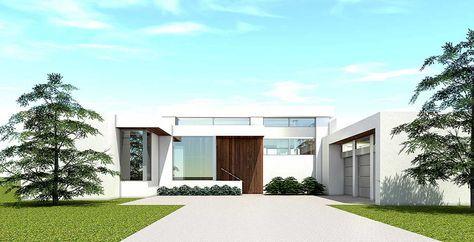 Plan 44140td Ultra Modern House Plan With 4 Bedroom Suites Modern House Plans Modern Style House Plans Modern House Plan