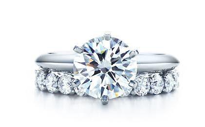 Tiffany Wedding Band With Engagement Ring
