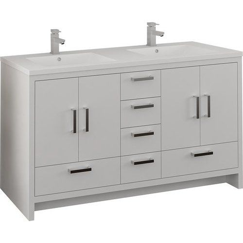 Fresca 60 Inch Imperia Free Standing Double Sink Bathroom Vanity