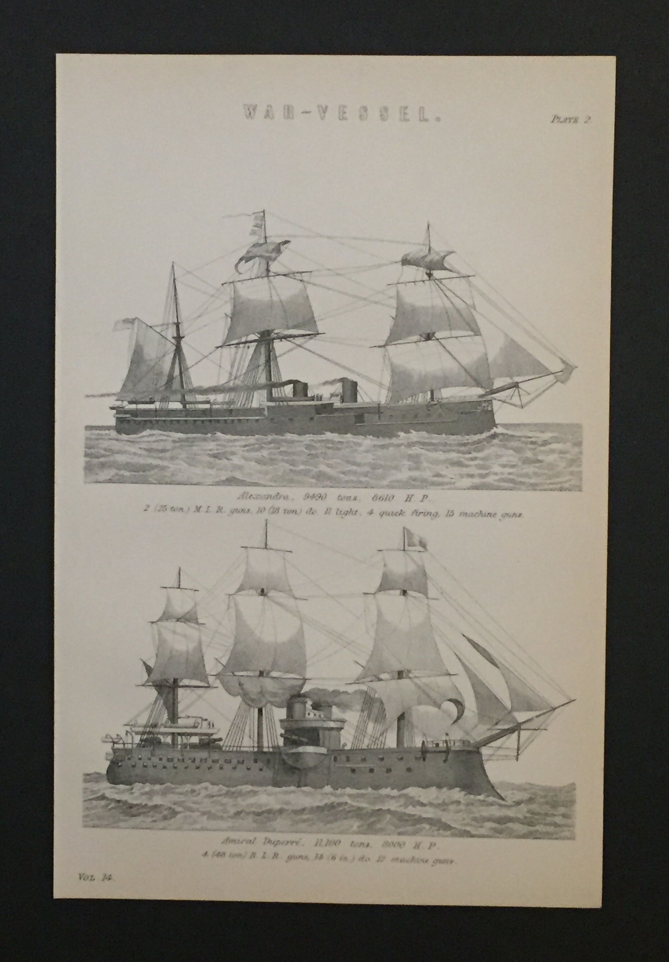 Victorian Black And White Lithograph Of Tall Ships Circa 1880 Sailing Ship Diagram Pinterest