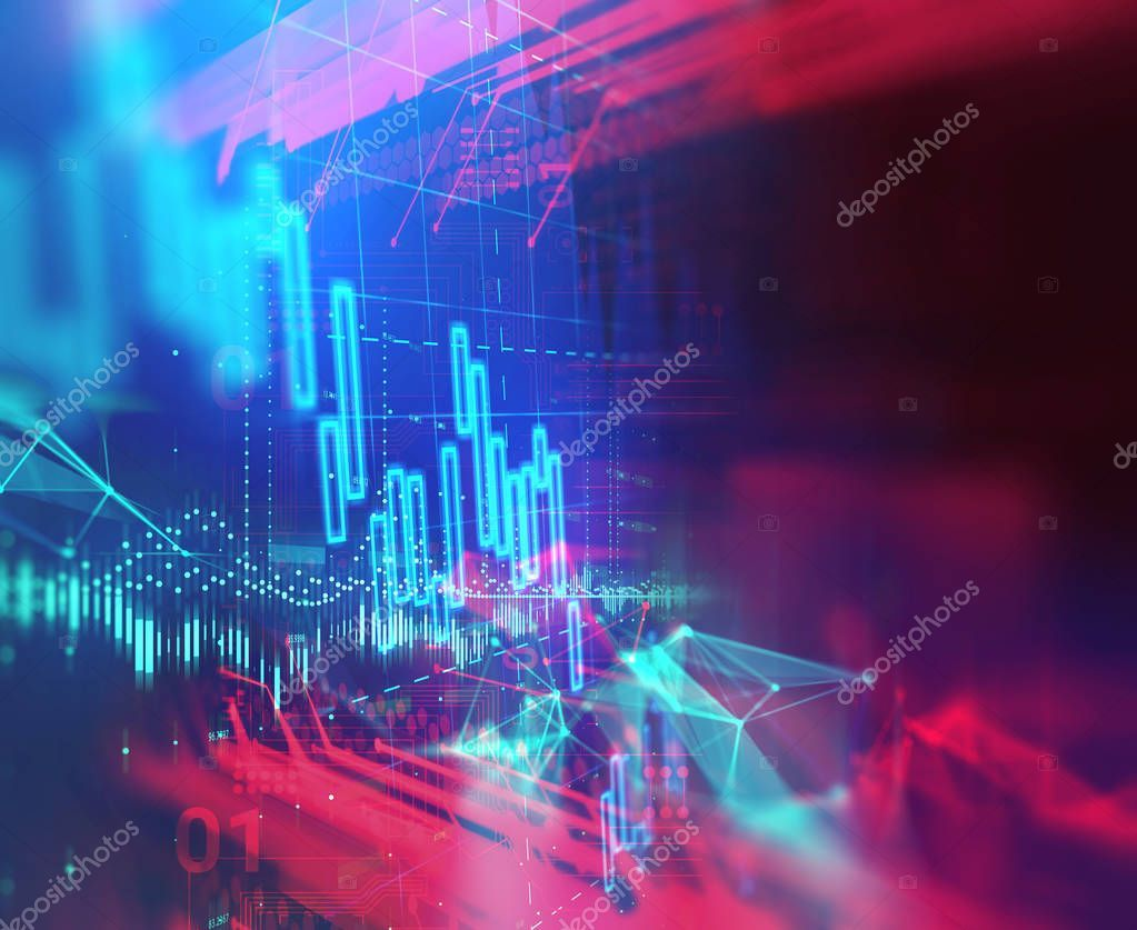 Technical Financial Graph On Technology Abstract Background Stock Photo Ad Graph Technology Technical Financial Ad