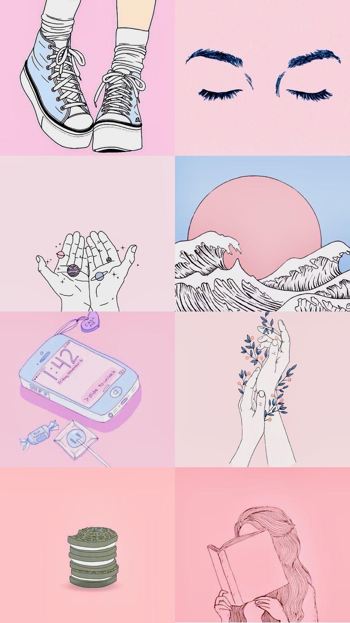 Pink Kawaii Aesthetic Wallpaper