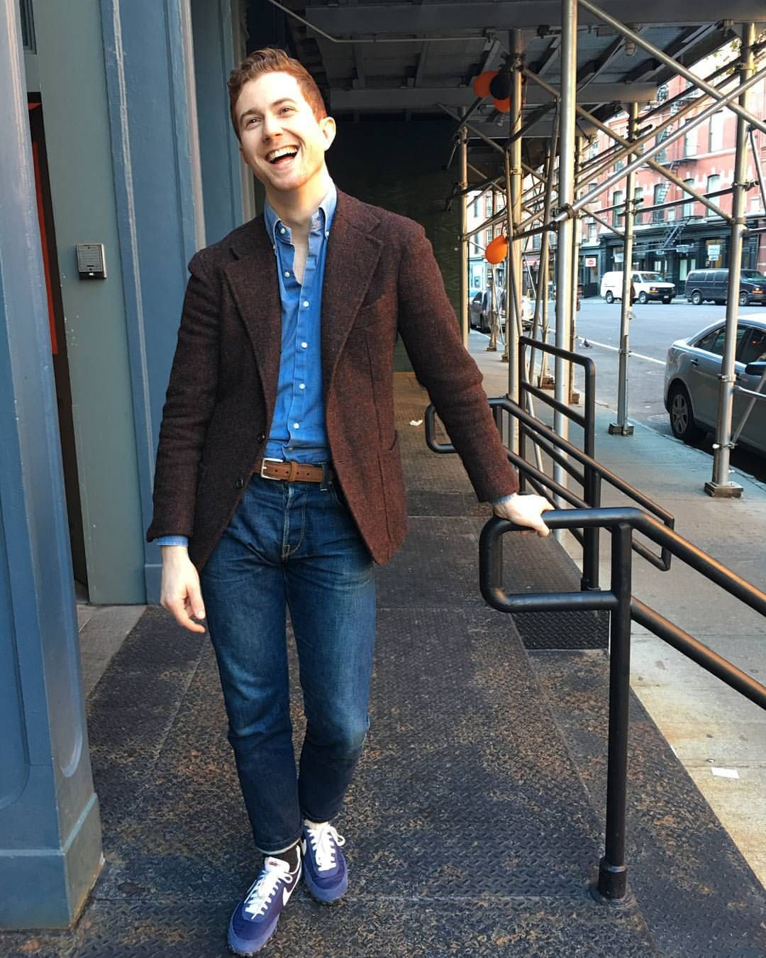 Harris tweed and Nike Fall business casual outfits, Mens