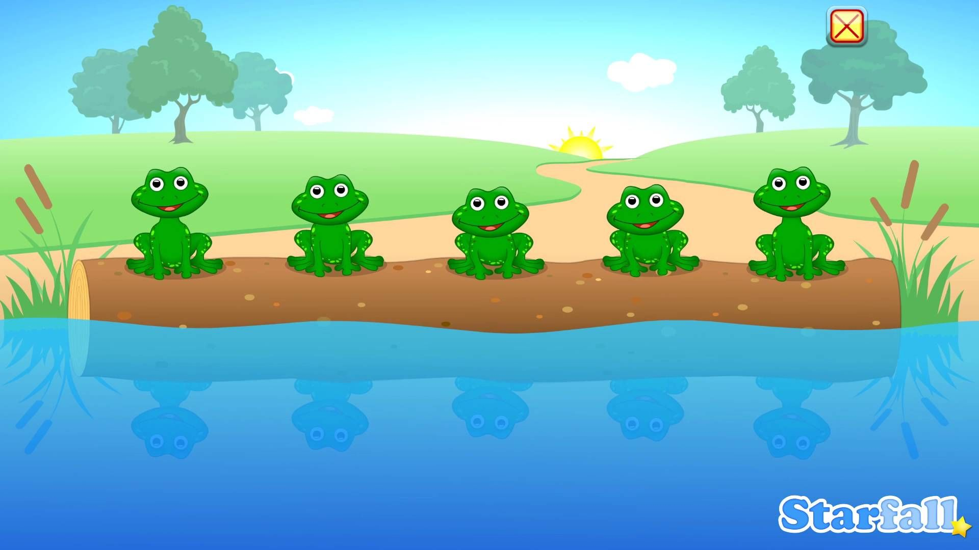 5 Little Speckled Frogs By Starfall