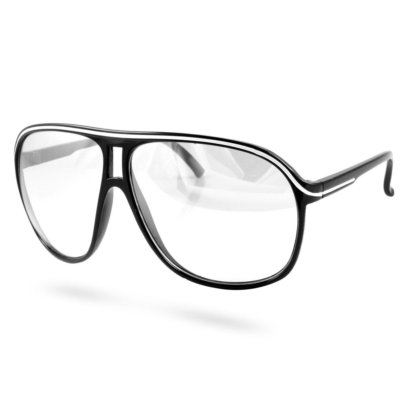 afed55d93bc9 Sorte Klare Vintage Briller - 115