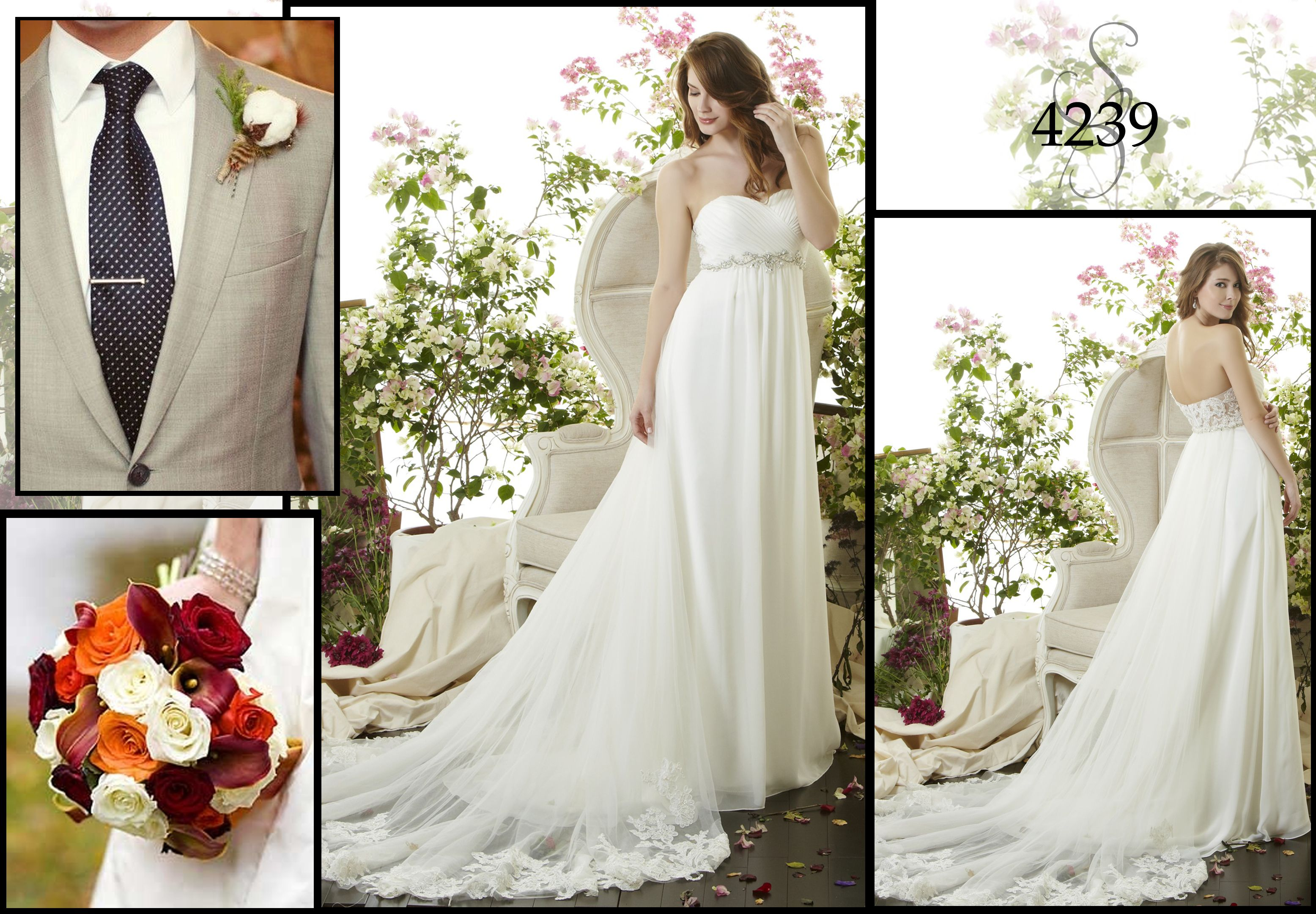 "~Are your ready to say ""I DO""? How perfect would be wearing our style 4239. Simply breathtaking!~"