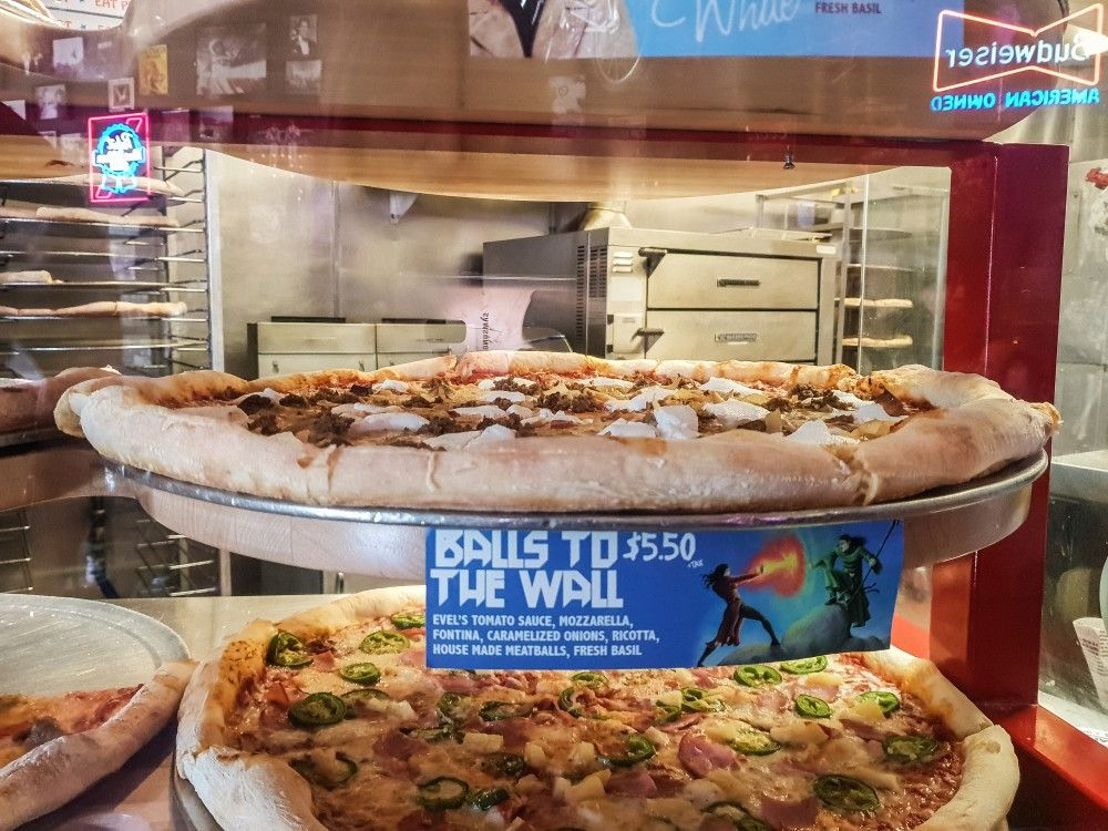 Rock N Roll Pizza Party Evel Pie Downtown Las Vegas Vacation