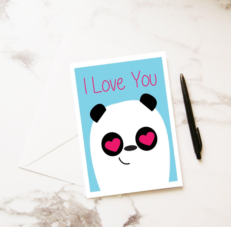 Valentines Card Panda Love Greetings Card Anniversary Husband