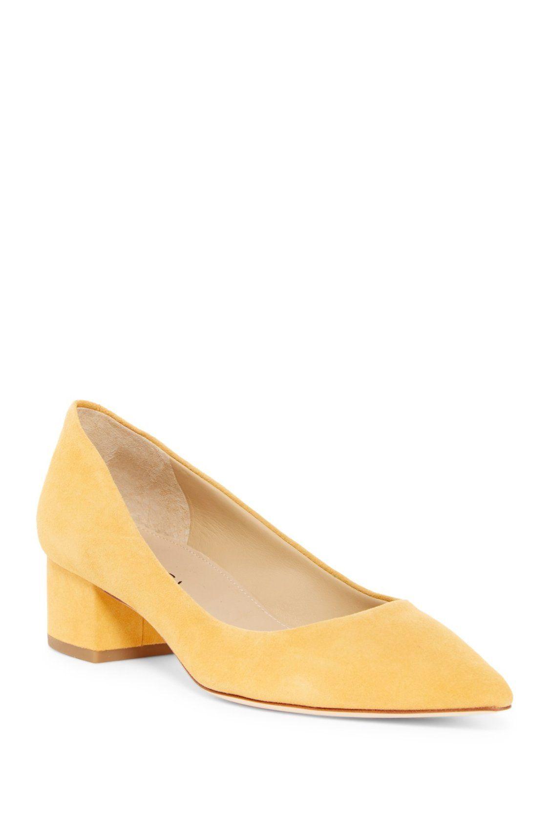 6393b128eb4 Mellow yellow. Via Spiga Guervie Suede Pumps