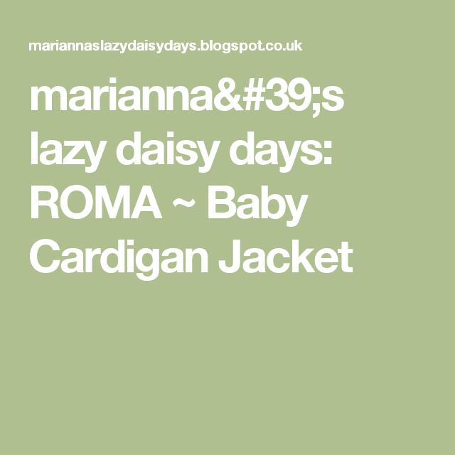 2d5b5493c458 marianna s lazy daisy days  ROMA ~ Baby Cardigan Jacket