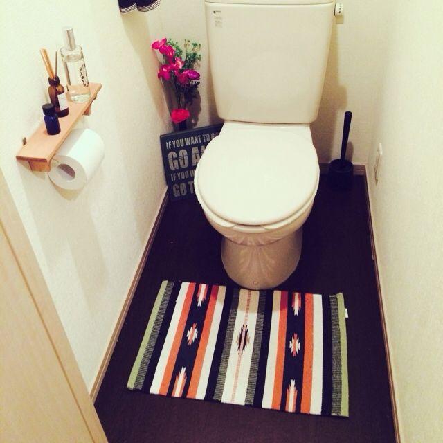 バス トイレ トイレ 賃貸だけど 一人暮らし 床 などのインテリア実例 2014 05 25 13 46 38 Roomclip ルーム
