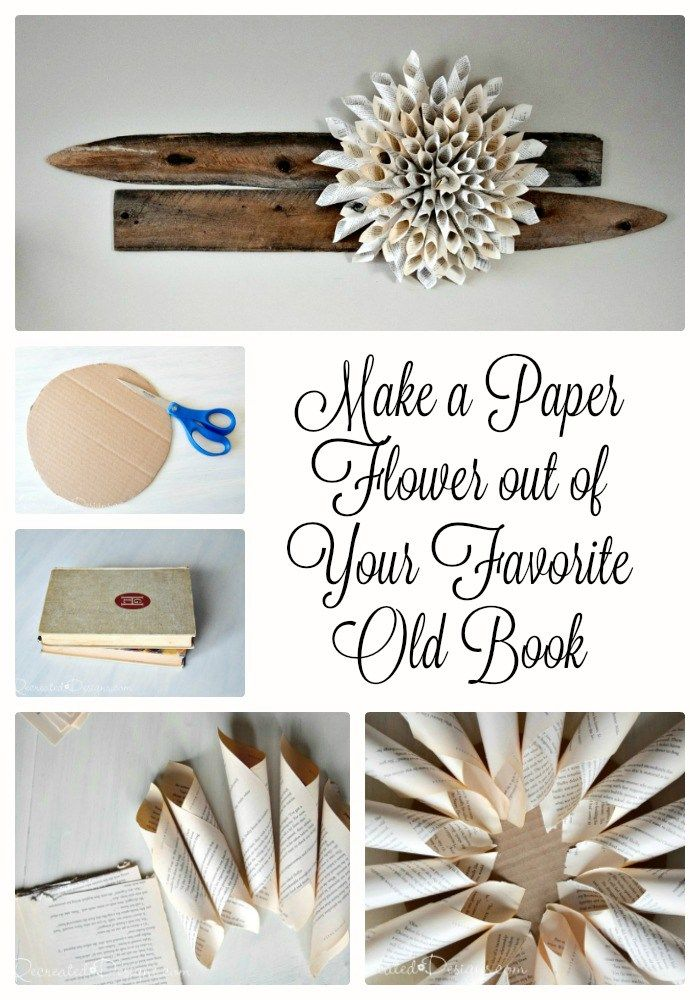 How to make paper flower out of favorite old book recreateddesigns how to make a paper flower out of your favourite old book mightylinksfo
