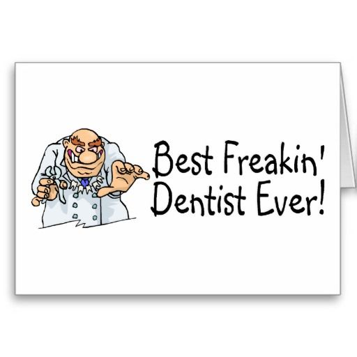 best freakin dentist ever 2 thank you card  zazzle