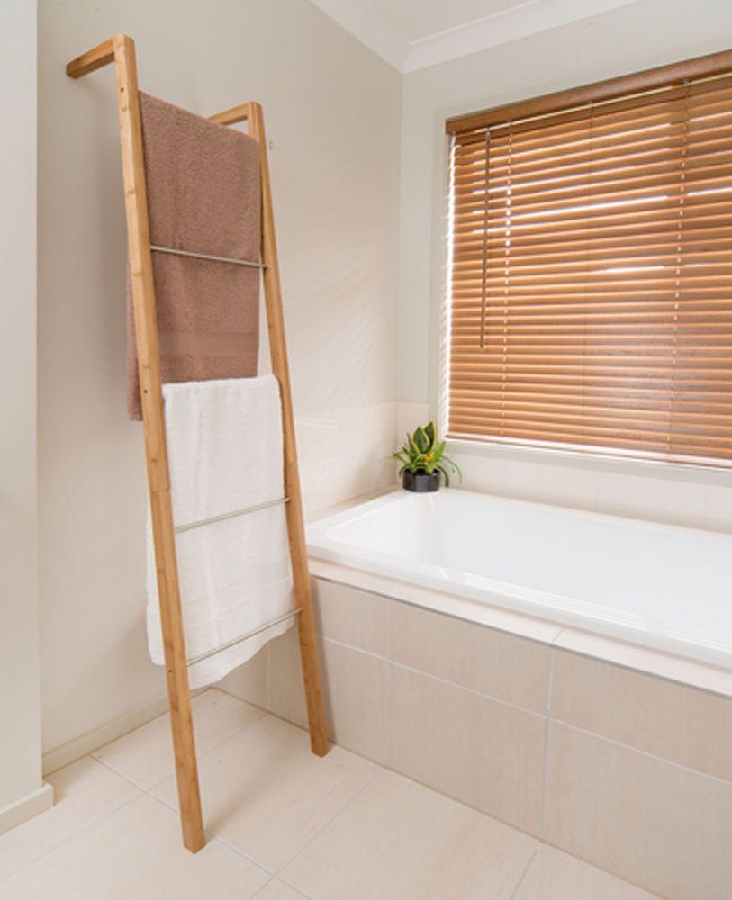 Bamboo Ladder Towel Rack 35cm X 20cm 180cm