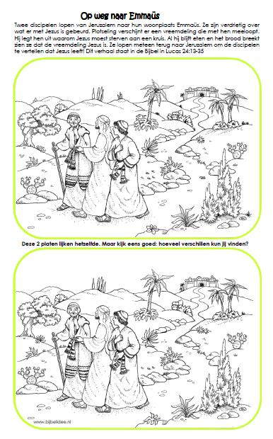 Op Weg Naar Emmaus Zoek De Verschillen Bijbel