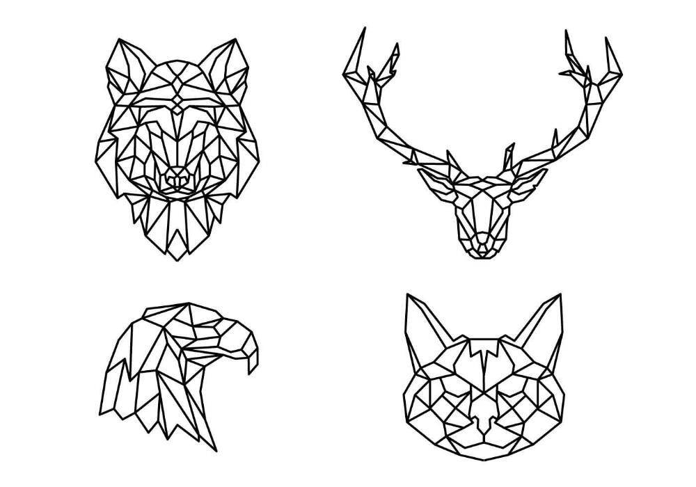 Best Hd Geometric Animal Coloring Pages Vector Design Free Vector Art Images Graphics Cl Geometric Coloring Pages Animal Coloring Pages Geometric Animals