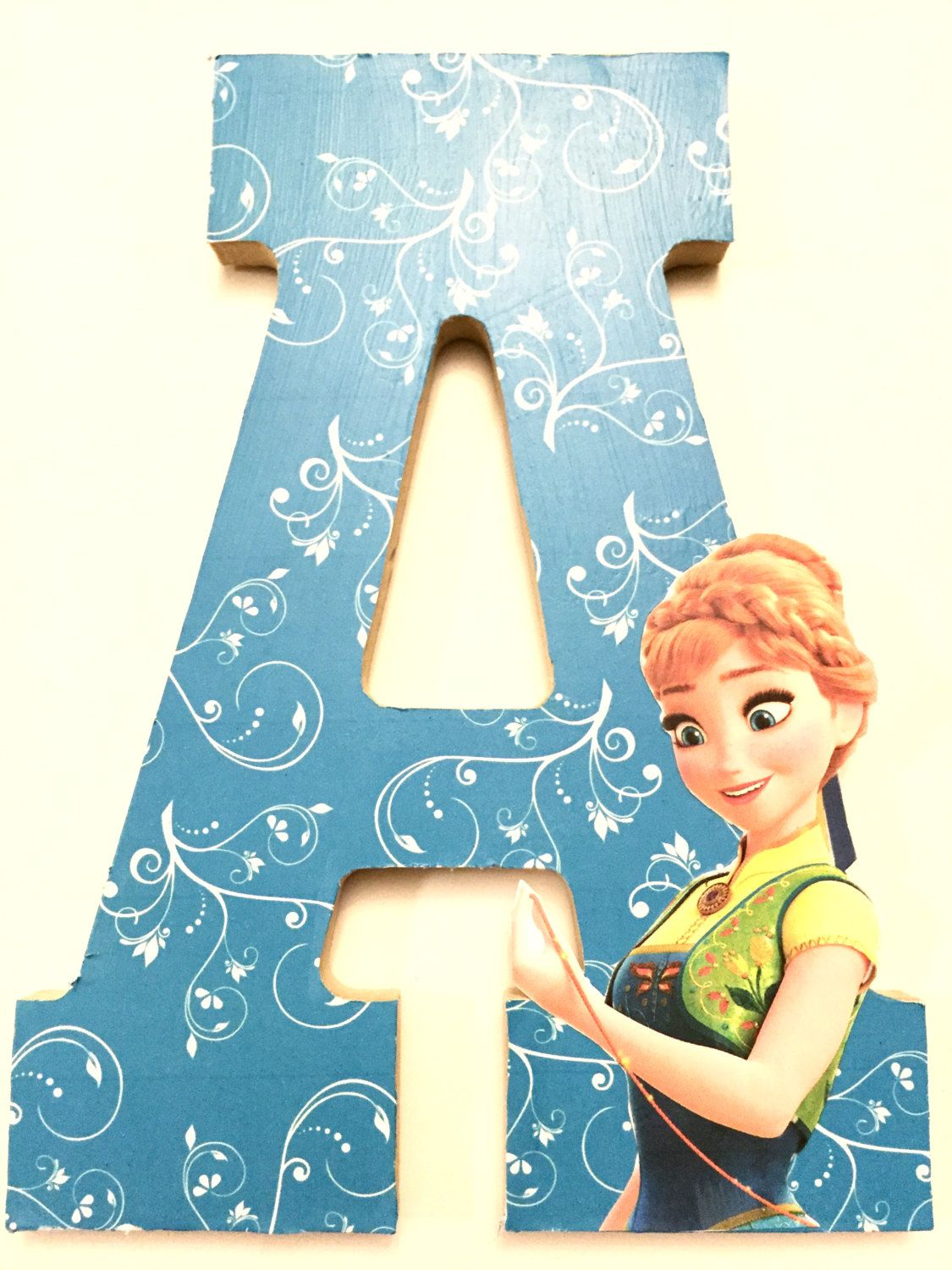 "Frozen Anna wooden letter A 8"" for children room and home ..."
