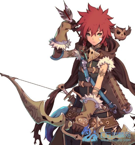 Anime Guy Bow And Arrows Owl Red Hair Game Character Design Character Art Character Design