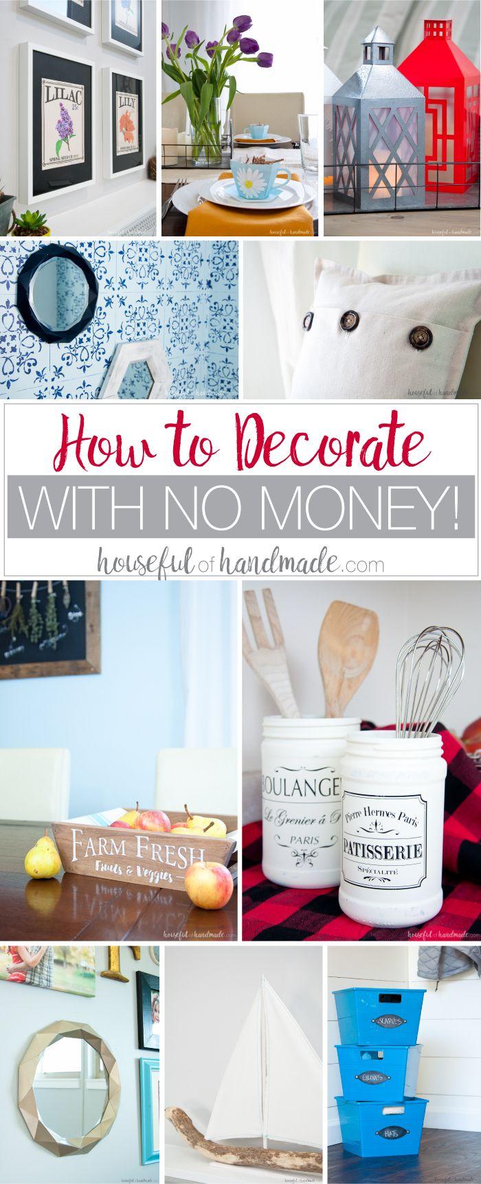 How To Decorate With No Money Home Diy Cheap Home Decor Diy
