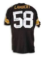 online retailer 08e52 67a7b Jack Lambert Pittsburgh Steelers Black Throwback Jersey ...