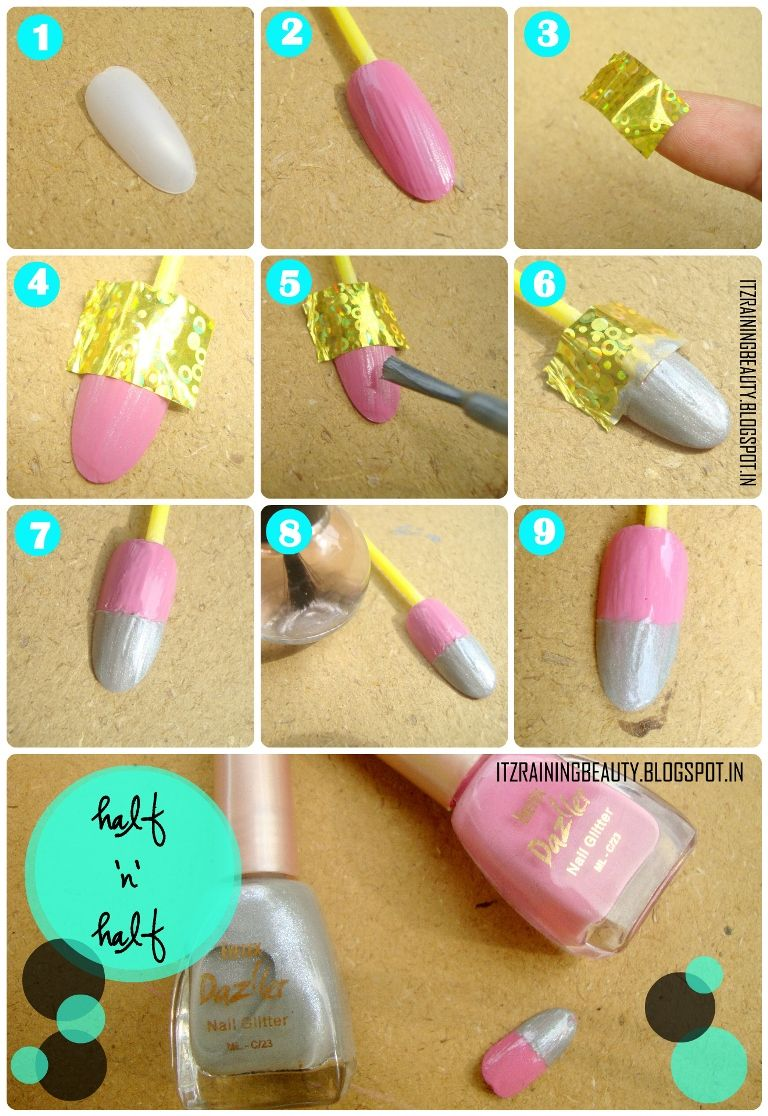 DIY Nails : Chic And Easy Two Color Nail Art Polish Tutorial Using .