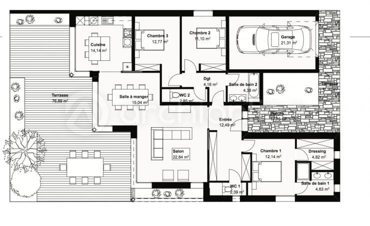 Maison Pitche  une maison Moderne conçue par lu0027architecte François - plan maison une chambre