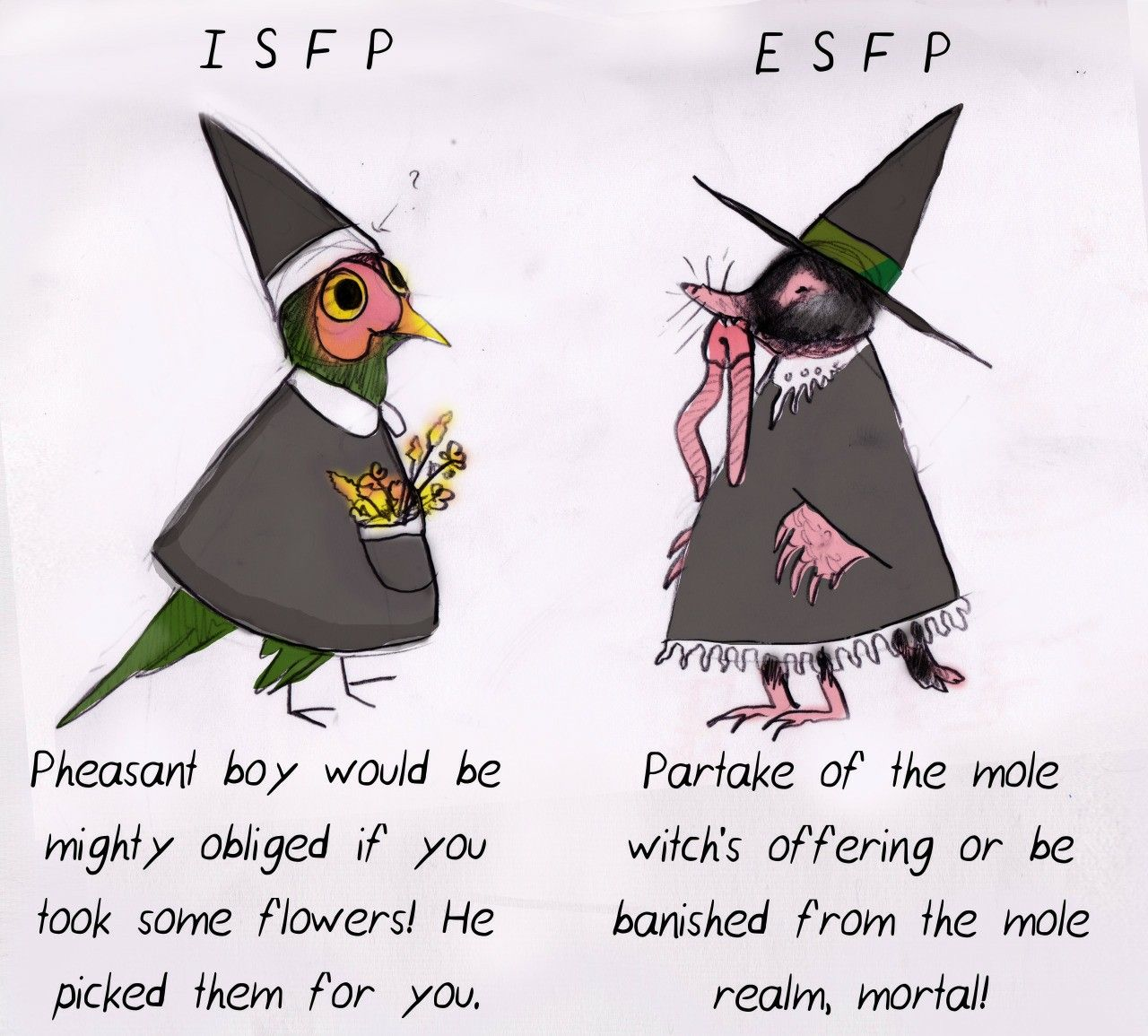 Pin by H h on types Mbti, Creature art, Isfp