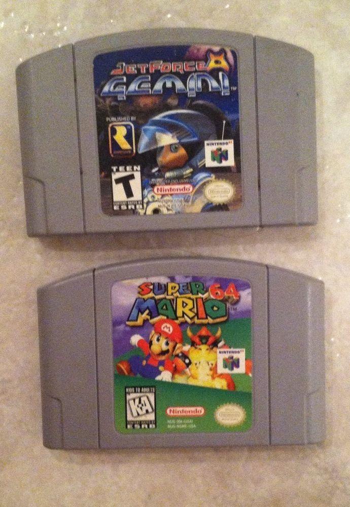 Nintendo 64 Lot- Super Mario 64 & Jet Force Gemini