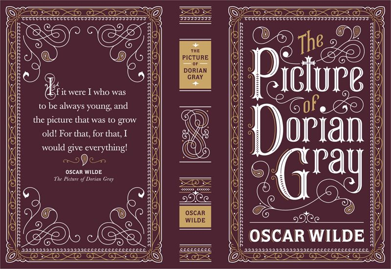 From a series covers of classic books. The books were leather bound and the design was then foil stamped in two foil colors onto the full jacket and spine. by Jessica Hische