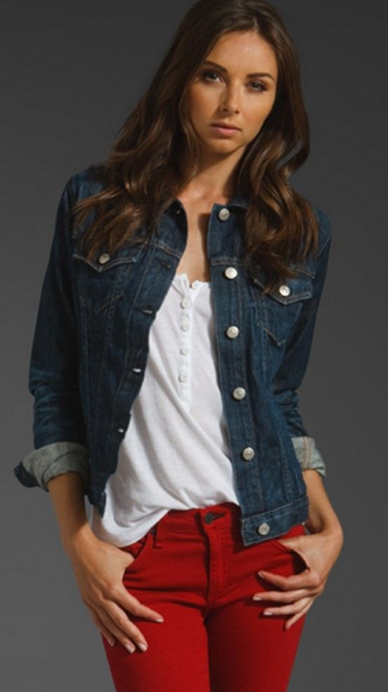 550cab92abe I like the slouchy shirt. Don t like the wash of the jean jacket. I ...