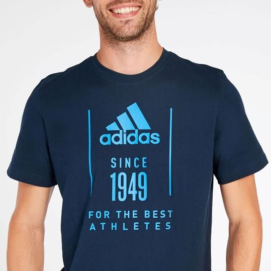 adidas camiseta hombre azul