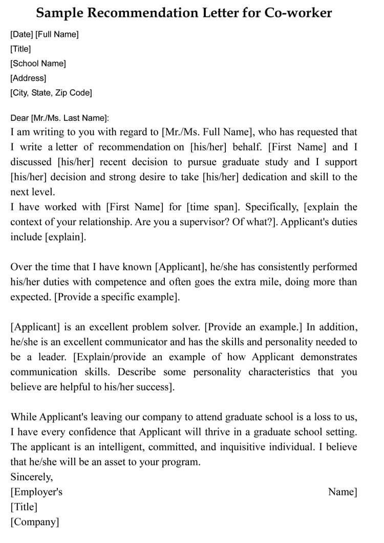 Letter Example Coworker 14 New Thoughts