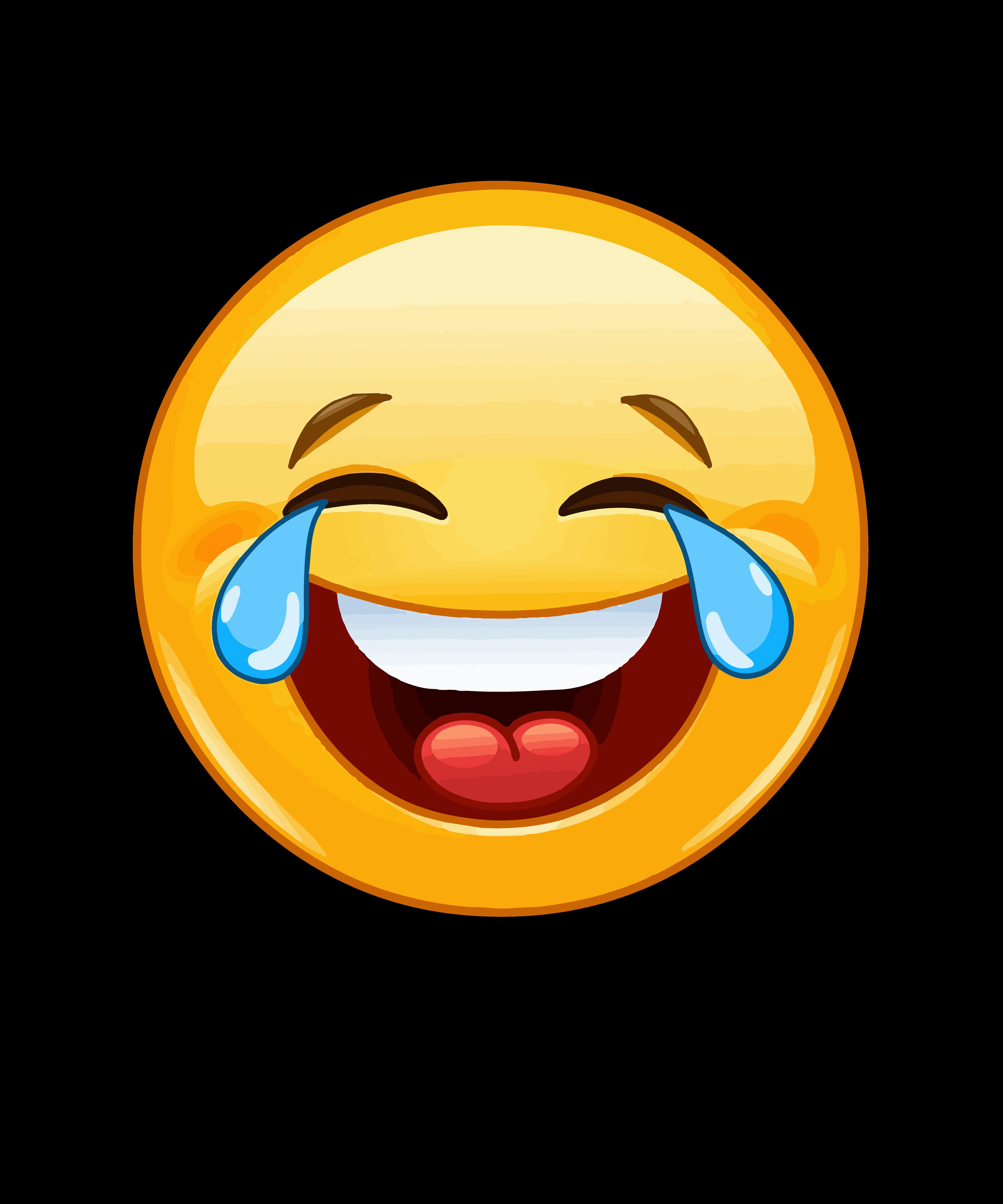 Laughing emoji transparent background