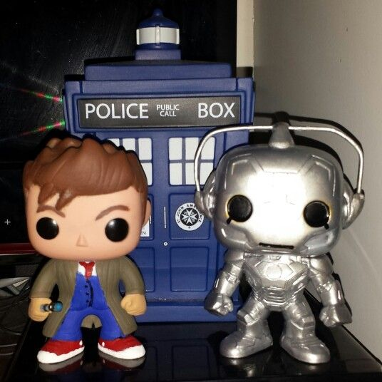10th Doctor And Cyberman By Michaelrdr16 Funko Pop Vinyl Cyberman