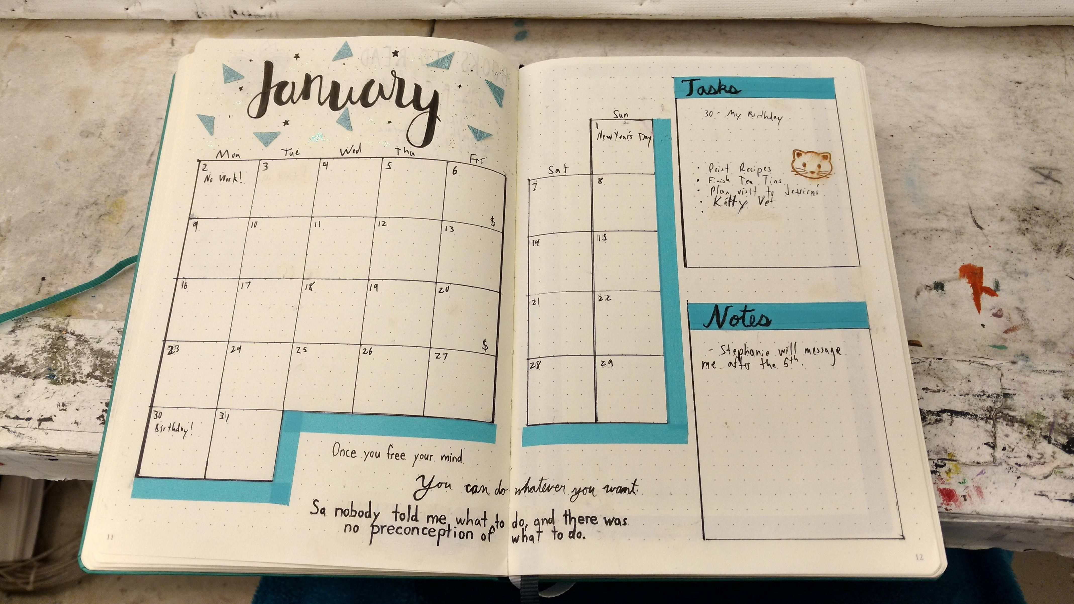 perfect monthly layout