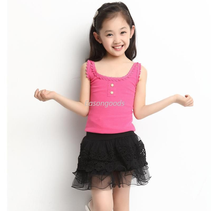 1a86e200eb78 2018 2014 Hot Sell Kids Clothing Pre Teen Children Dress Big Girls Summer  Floral Mini Skirt Korean Style Height 120 160cm From Easongoods