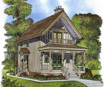 Plan 43042pf Cottage With Porches On Both Level In 2021 Small Cottage House Plans Country Style House Plans Cottage House Plans