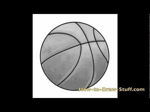 How To Draw A Basketball Step By Step Sport Drawings Pinterest