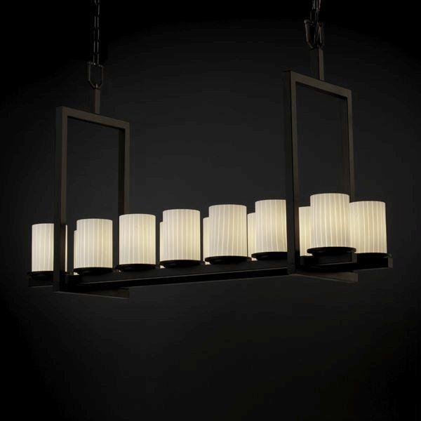Justice design exclusive lighting store dakota 14 light bridge chandelier short